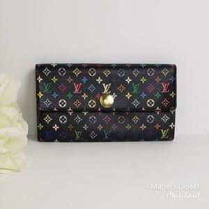 Louis  Vuitton Black Multicolore Wallet #1684M